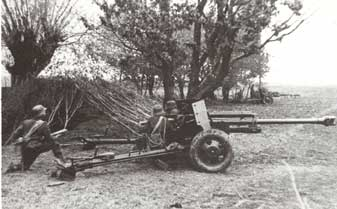 ZIS-3 captured by the Germans and modified with a new shield and to fire PaK40 ammo