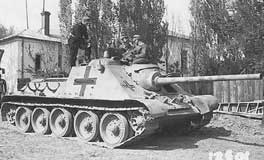 An SU-85 captured and put into service with the German army