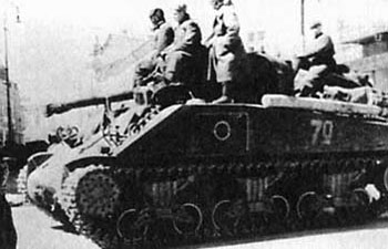 Soviet 'Emcha' M4A2 Sherman, the main tank of the 3rd Guards Mechanised Corps