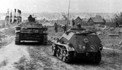 24. Panzerdivision troops in Stalingrad