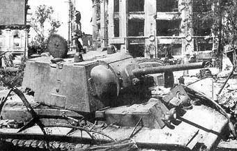 Knocked out KV-1