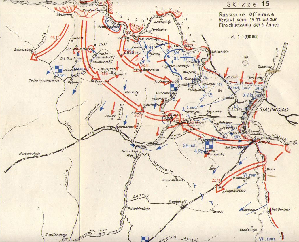 German map of Operation Uranus