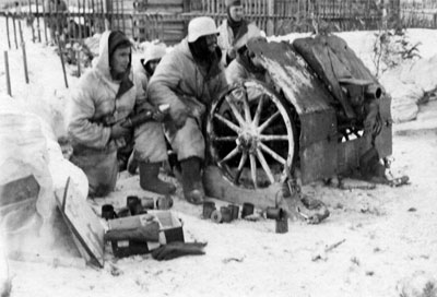 Infantry Gun in the snow