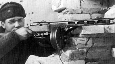 Soviet infantryman with PPsh SMG