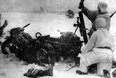 Mortar team in the snow