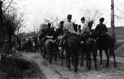 Cossacks off to war in 1914