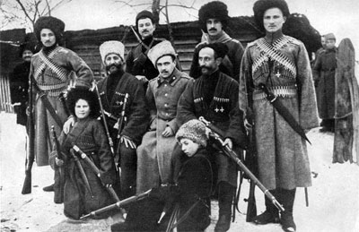 Cossacks during the civil war