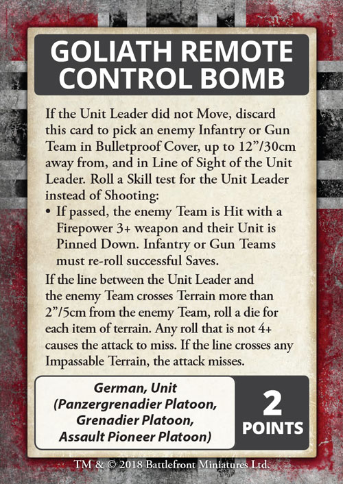 Iron Cross Command Cards (FW247C)