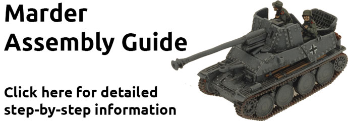 Assembling the Marder (7.62cm) Tank-hunter Platoon