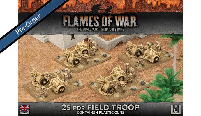 25 pdr Field Troop (Plastic) (BBX33)