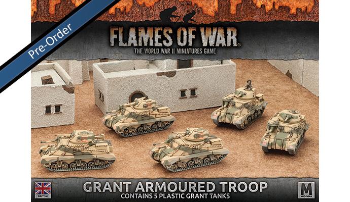 Grant Armoured Troop (Plastic) (BBX37)