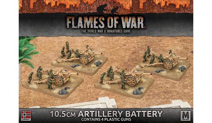 10.5cm Artillery Battery (Plastic) (GBX91)