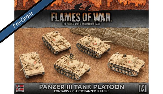 Panzer III Tank Platoon (Plastic) (GBX96)