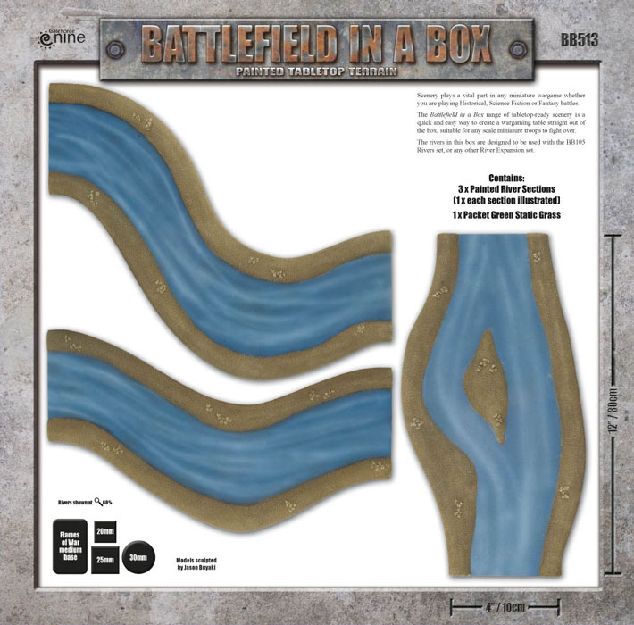 Battlefield in a Box - River Expansion: Island Box Back (BB512)