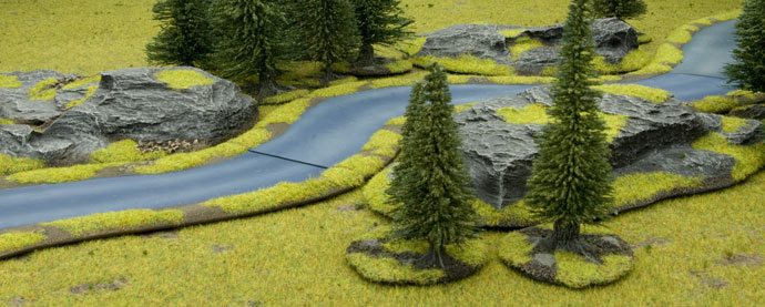 Battlefield in a Box - River Expansion: Island River Section (BB512)
