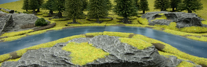 Battlefield in a Box - River Expansion: Bends River Section (BB512)