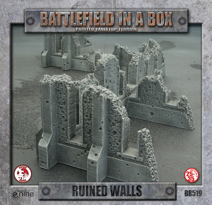 Battlefield in a Box: Ruined Walls (BB519)