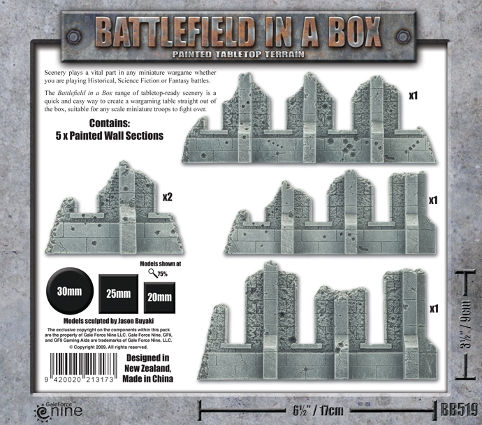 Battlefield in a Box - Gothic Runied Walls (BB519) - Box Back