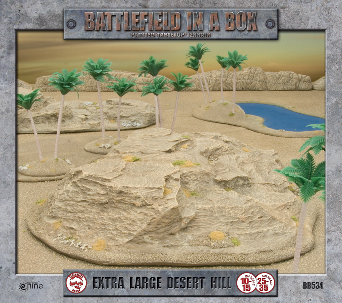 Battlefield in a Box: Extra Large Desert Hill (BB534)