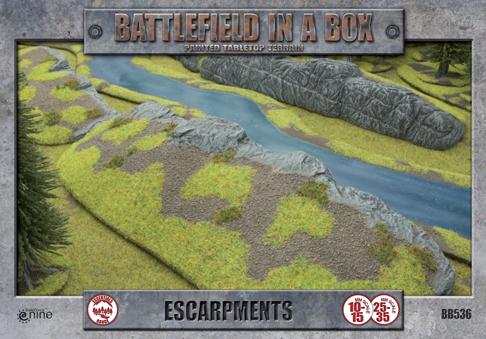 Battlefield in a Box: Escarpments (BB536)