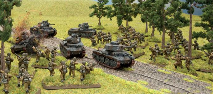 Polish infantry ambush German Panzers