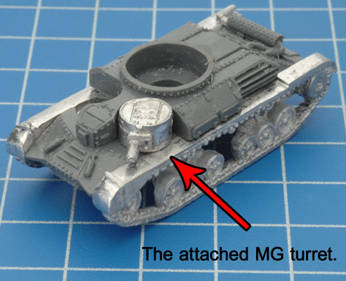 Attaching the MG turret