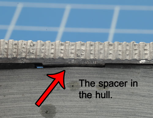 The spacers in the hull