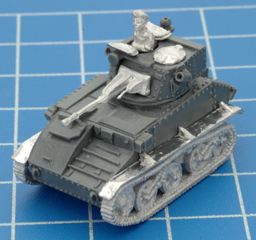 The completed Light Tank Mk VI C with a Command figure