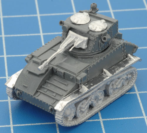 The completed Light Tank Mk VI C minus the split hatch and Command figure