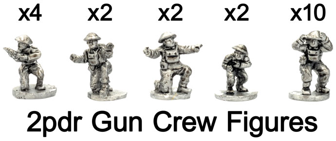 The 2pdr gun crew figures