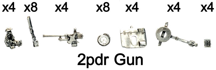 The 2pdr gun parts