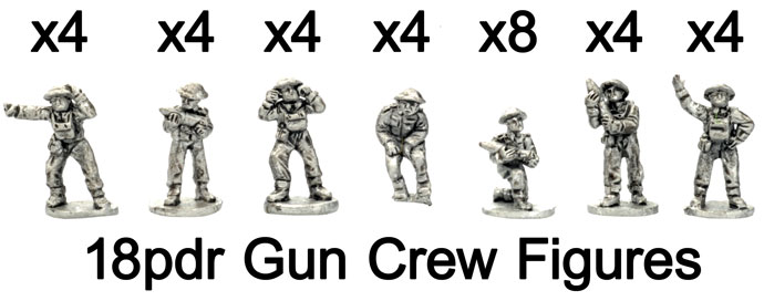 The 18pdr gun crew figures
