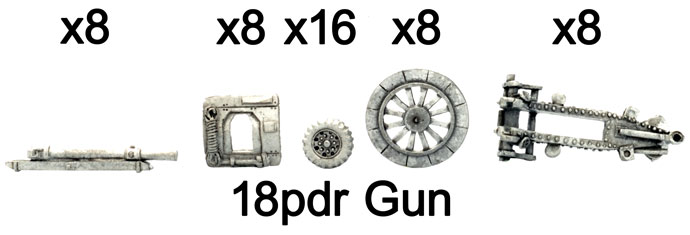 The 18pdr gun parts