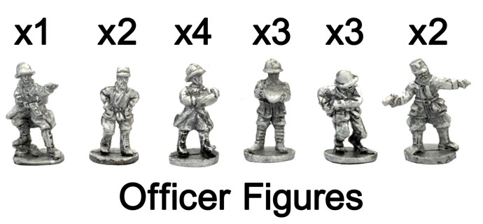 The French Officer Figures