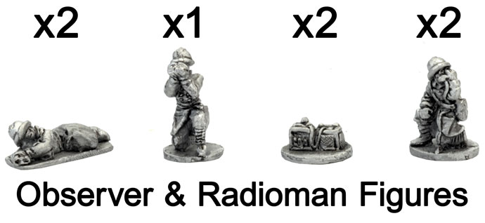 The French Observer and Radioman figures
