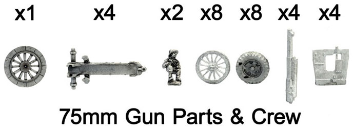 The French 75mm gun and crew figure