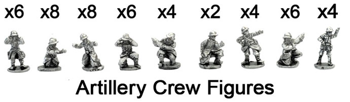The French Artillery crew figures