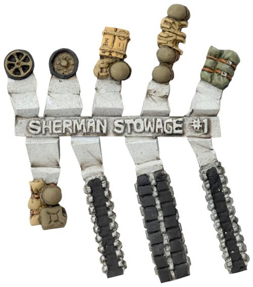 Sherman Stowage Sprue #1