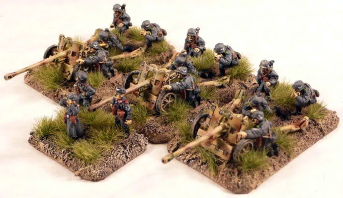 Light Anti-tank Gun Platoon with 5cm PaK38 Anti-tank guns