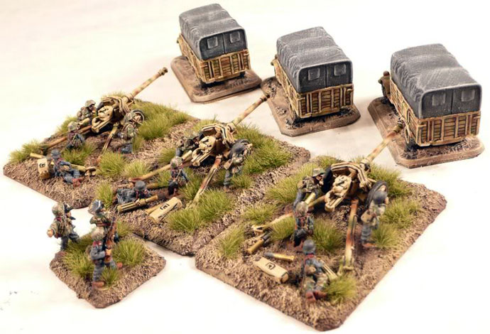 Light Anti-tank Gun Platoon with 7.5cm PaK40 Anti-tank guns