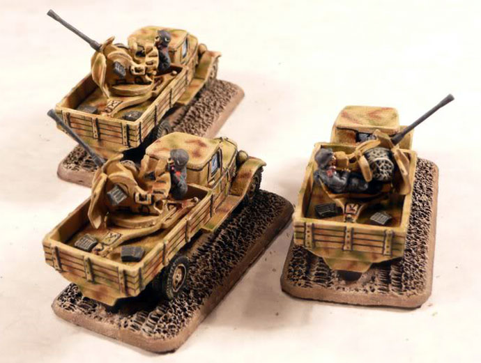 Light Anti-tank Gun Platoon with 2cm FlaK38 Portee