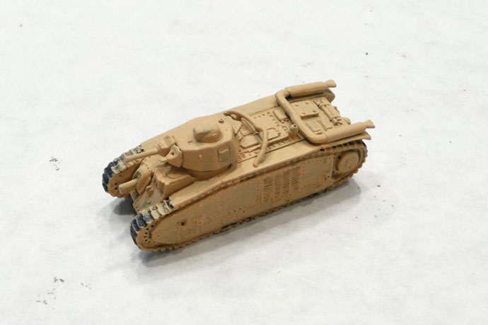 The Char B with a base coat of Tan Yellow (VP912)