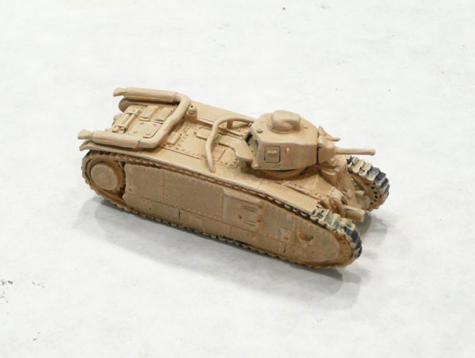 The Char B with a drybrush 50/50 White (VP951) & Tan Yellow (VP912)