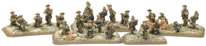 Commonwealth Rifle Team based on the plastic rubble bases
