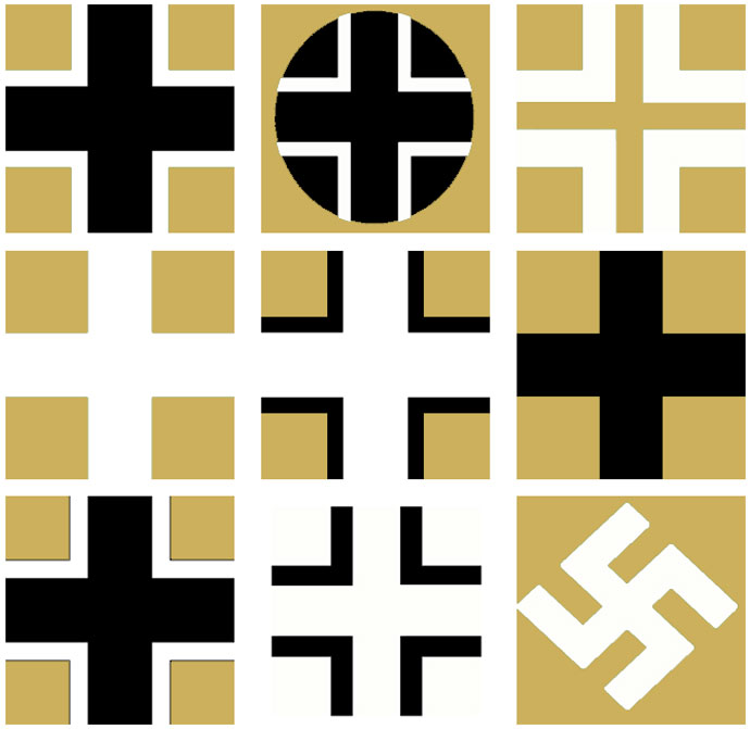 Examples of German National Insignias used on Beutepanzers