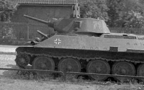 T-34 with L11 using a two-digit number on the side (Rear section) of the turret.