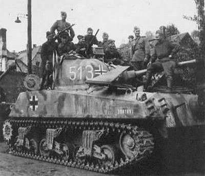 M4 Sherman using a three-digit number on the side (Mid section) of the turret.nel of the turret.