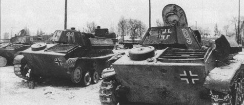 T-70's using a single-digit & two-digit number on the side (Rear section) of the turrets.