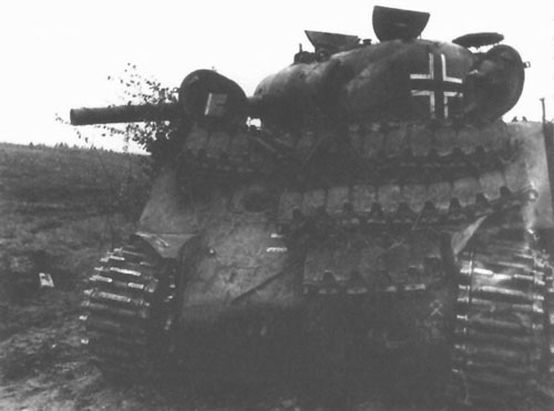 M4 Sherman using a German Cross on the side (Mid section) of the turret & on the front panel of the tank.