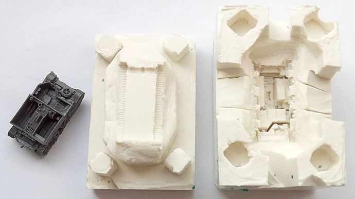 Two-part mould